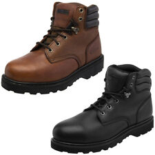 Knapp Backhoe Steel Toe Leather Mens Work Boot Construction Safety Comfort Shoes