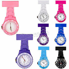 New Nurse Watch Quartz Brooch Tunic Fob Plastic Pendant Clip-on Pocket Watches