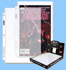 BCW: 3-Ring Pages: COMIC Size: 7 x 11 Current-Silver CASE-LOT 1000ct (10 boxes)