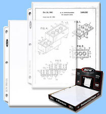 BCW: 3-Ring Pages: MAGAZINE or DOCUMENT Size: 8½ x 11 CASE-LOT 1000ct (10 boxes)