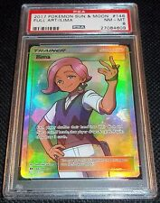 PSA 8 NEAR MINT Ilima 146/149 - Pokemon SM Sun & Moon Full Art Card