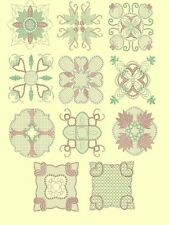 Candlewick & Satin 1 Quilt Squares Machine Embroidery Designs-44 Anemone Designs