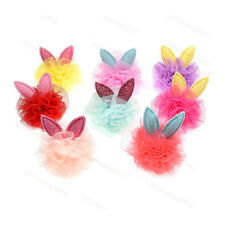 """New Pet Puppy Dog Cat Hair Bows Rabbit Ears Lace Balls 1.57"""" Dog Grooming Bows"""