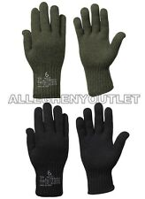 NEW US Military Army D3A WOOL GLOVE INSERT Liners Black or Green USA MADE Sz 2-7