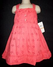 Eyelet lace dress coral ruffle girls 2T 3T 4T NWT Baby Togs