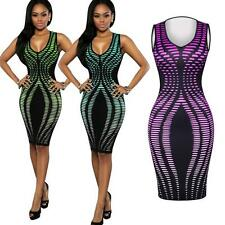 Sexy Women Dress Bandage Sleeveless Bodycon Evening Party Cocktail Club Dresses