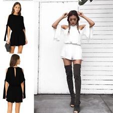 Sexy Ladies Women Off Shoulder Loose Romper Jumpsuit Playsuit Summer One-Piece