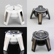 Solar Powered 360?? Rotating Jewelry Watch Cellphone Display Stand Turn Table HT