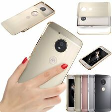 Luxury Brushed Aluminum Metal Frame Hard Case Cover For Motorola Moto G5/G5 Plus