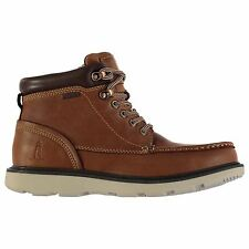 Rockport Mens Moccasin Boots Lace Up Waterproof Leather Shoes