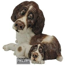 Pets with Personality Liver Springer Spaniel Mother & Pup Figurine   21258