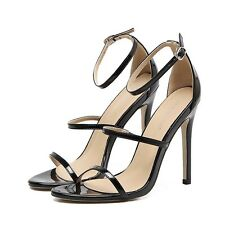 Open Toe Ankle Strap  Buckle Stiletto High Heels Elegant OL Sandal Women Shoes