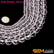 Natural AAA Grade White Clear Crystal Rock Quartz Gemstone Beads Jewelry Making