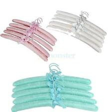 5X Swivel Hook Satin Fabric Padded Coat Clothes Suit Shirt Dress Hangers