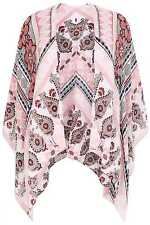 YoursClothing Plus Size Womens Ladies Cardigan Top Floral Border Print Wrap