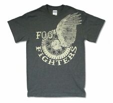 Foo Fighters Winged Wheel Logo Charcoal Grey T Shirt New Official Adult