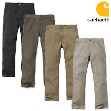 Carhartt Men's Trousers Washed Twill Dungaree Waistband pants Cargo Workwear NEW