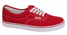 Vans Off The Wall LPE Red Lace Up Mens Womens Unisex Canvas Plimsolls