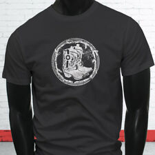 WESTERN COWBOY BOOTS RODEO COWGIRL COUNTRY HOWDY Mens Charcoal T-Shirt