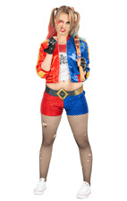 Ladies Suicide Squad Sexy Harley Quinn Joker Outfit Fancy Dress Costume