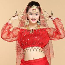 Womens Girls New Belly Dance Costumes Top Indian Dancing Clothes Long Sleeve Top
