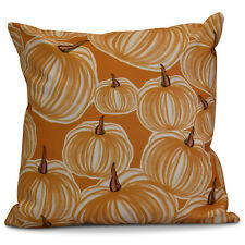 Alcott Hill Miller Pumpkins-A-Plenty Geometric Throw Pillow