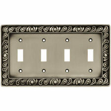 Franklin Brass Paisley Quad Switch Wall Plate