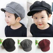 Baby Kid Toddler Infant Boy Girl Beret Cap Dome Octagonal Hat Baseball Casquette