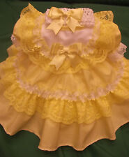 DREAM BABY ROMANY SPANISH FRILLY LEMON DRESS HBD  0 - 18 MONTHS REBORN DOLL