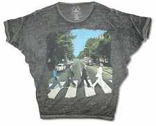 The Beatles Abbey Road Jumbo Gathered Shoulder Black Burnout Girls Juniors Trunk