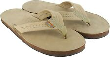 Rainbow Premier Leather Single Layer Sandals 301ALTS Women's Size Sierra Brown S