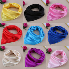 Women Lady Small Square Satin Silk Scarf Smooth Wrap Scarves Handkerchief LAUS