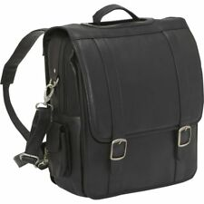 Le Donne Convertible Laptop Backpack / Briefcase, Leather Computer Bag