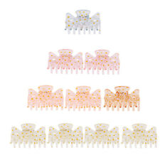 Set of 10 Plastic Multicolor New Hairdresser Hair Claw Clips Clamps Grips 6cm