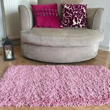 PINK SMALL LARGE MEDIUM THICK PLAIN SOFT SHAGGY RUG NONSHED PILE MAT MODERN RUGS