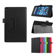 Folding Folio Case Stand Leather Case Cover For Amazon Kindle Fire 7 2017 Tablet