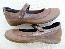 """""""NAOT"""" BROWN LEATHER MARY JANE SHOES WOMEN 10M (41) NICE"""