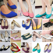 Womens Ballerina Ballet Dolly Pumps Summer Flats Loafers Casual Shoes Slip-on
