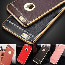 Luxury Ultra-Thin Slim PU Leather Soft Phone Case Cover for iPhone 5s 6s 7 Plus