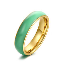 Womens Jewelry 14K Gold Filled Jade Ring Vintage Charm Size 7 8 10 Promise
