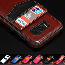 Leather Slim Wallet Credit Card Holder Stand Cover Case For Samsung Galaxy S8 /+