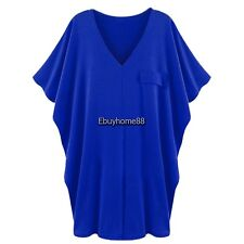 Meaneor Stylish Ladies Women Casual V-neck Loose Bat Sleeve Blouse Tops EHE801