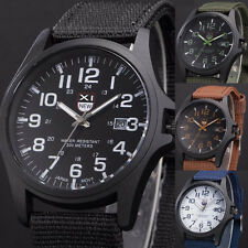 Men's Military Leather Waterproof Date Watch Army Quartz Sports Wrist Watches
