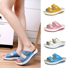 Women Ladies Slip On Sandals Summer Beach Flip Flops Platform Waterproof Shoes