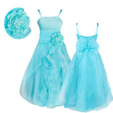 Flower Girl Princess Formal Dress Gown Party Wedding Bridesmaid Pageant Dresses