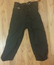 Alleson Youth Dazzle Polyester Football Black Pants W/Snaps