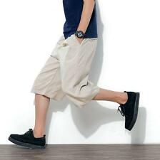 Mens breathable beach shorts casual harem pants cropped trousers Summer Casual S
