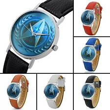 Retro Star Trek Design Vintage Quartz Watch Leather Band Analog Wristwatches