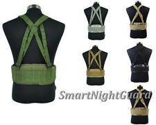 Outdoor Tactical Molle Airsoft Men's Waist Padded Belt With H-shaped Suspender