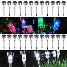 5 Pack Outdoor Stainless Steel LED Solar Power Lawn Landscape Garden Path Light